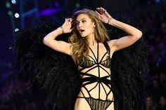 Gigi Hadid walking the Victoria's Secret Fashion Show | @nickibryson