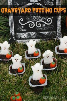 Galletas divertidas para los niños en Halloween.