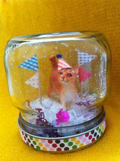 "Kitty Cat Party Animal ""Snow Globe""!"