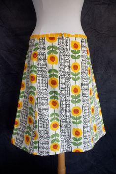 Aline skirt upcycle vintage calender/tea towel Dutch by LUREaLURE