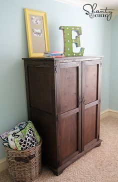 Pottery Barn Kids DIY Armoire via Shanty 2 Chic...love these girls and their ideas!!