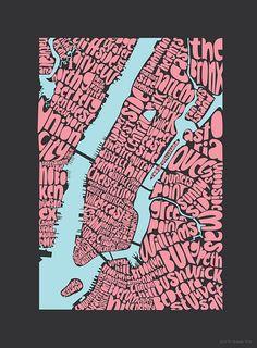 typo map of new york // ursula hitz