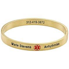 medical bracelets for women   Medical Alert Bangle - 917495, Independent Living at Sportsman's Guide