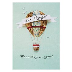 Buy Hotchpotch Bon Voyage Leaving Card from our Greetings Cards range at John Lewis & Partners. Travel Gift Cards, Travel Gifts, Bon Voyage Cards, Leaving Cards, Diy Cards, Handmade Cards, Special Day, Cardmaking, Projects To Try