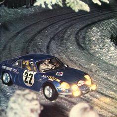 J.C. Andruet / Vial (Alpine-Renault A110 1600 S) - Rallye de Monte-Carlo 1971 - L'Automobile janvier 1972.