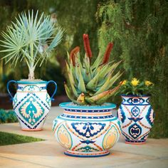 Mediterranean Painted Planters