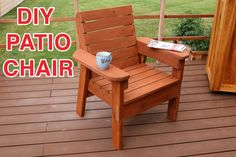 Learn how to build a DIY patio Chair. Full video tutorial, post, and downloadable diy patio chair plans to make this project a breeze.