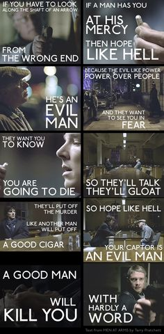 Brilliant combination of Sherlock and Pratchett, all the props to the person who made this!