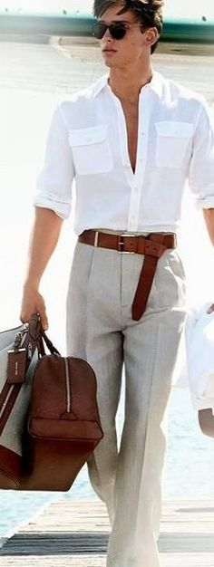 -Lifestyle  This image represents a fashion forward guy traveling in style.