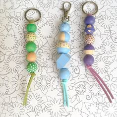 DIY Craft Kit: Wooden Beads keychains by WahSoSimple on Etsy