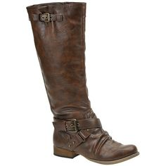 Carlos by Carlos Santana Women's Havana 2 Motorcycle Boot ($36) ❤ liked on Polyvore featuring shoes, boots, vegan boots, engineer boots, vegan motorcycle boots, biker boots and tall boots