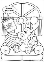 Blues Clues Coloring Pages On Book