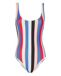 Solid & Striped | Multicolor Anne-Marie Striped Swimsuit | Lyst