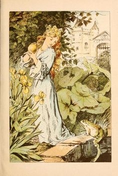 The Princess and the Frog illustration from German Tales of the Brothers Grimm