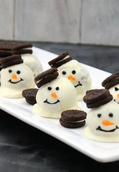 Feeling crafty? Combine Oreos, cream cheese, chocolate chips and some decorating icing to make this fun and cute holiday cookie.