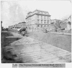 The Denman Grammar School, Bush Street, San Francisco California Ca, San Francisco California, Dna Project, Grammar School, Public, Street, Study, Travel, Studio