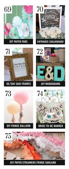 Cute DIY Bridal Shower Decoration Ideas