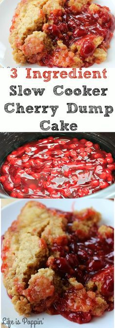 This 3 Ingredient Slow Cooker Cherry Dump Cake is a favorite dessert in a brand new way. Slow cooker cake is a great way to free up your oven allowing more room for other dishes or for keeping your kitchen cool in the Summer months. No time to bake? This is sort of one of those set it and forget recipes that will become one of your very favorites.