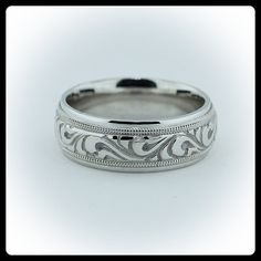Vintage mens wedding bands Wedding Pinterest Weddings