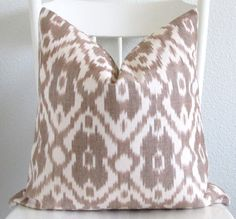 Decorative pillow cover Ikat pillow 16x16 by chicdecorpillows