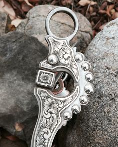 Spade bit with custom Sterling silver engraving