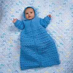 Leisure Arts - Cozy Baby Bunting Crochet Pattern ePattern, $4.99 (http://www.leisurearts.com/products/cozy-baby-bunting-crochet-pattern-digital-download.html)