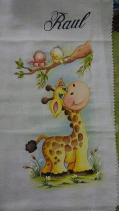 Baby Blanket Applique Ideas 24 Ideas For 2019 Baby Painting, Tole Painting, Fabric Painting, Painting & Drawing, Drawing For Kids, Art For Kids, Hand Embroidery, Embroidery Designs, Cool Pets