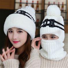 For Sale $6.75, Buy New Add Knit Lining Winter Hats Women Warm Fur Pom Pom Cap Skullies & Knit Hats For Women High Quality Girls Hats beanie hat