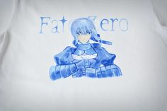 Ręcznie malowana koszulka z anime. #anime #saber #koszulka #ręczniemalowane #handmade #handpainted #painting #fatestay #fatezero