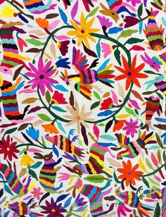Queen Size Mexican Suzani Bedspread (Anja)