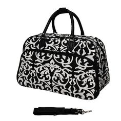 Features:  -EVA Polyester construction.  -A front easy access zipper secured pocket, adjustable ergonomic shoulder strap.  -Interior pockets for organization.  -Top zipper opening.  -Damask collection