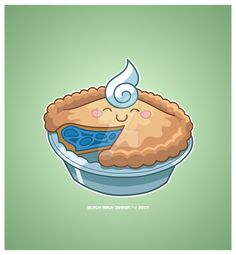 Kawaii Bleuh Berry Pie by KawaiiUniverseStudio.deviantart.com on @DeviantArt