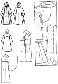 New Sewing Patterns Coat Capes Ideas Easy Sewing Patterns, Coat Patterns, Clothing Patterns, Dress Patterns, Sewing Coat, Sewing Clothes, Diy Clothes, Cape Pattern, Jacket Pattern