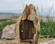 Handmade Driftwood Fairy Door Candle Holder