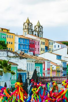 Salvador, Bahia, Brazil! This post does not contain industrial soot stained cities; instead it showcases some of the most vibrant looking cities in the world. Click through to see some of the most colorful cities in the world!