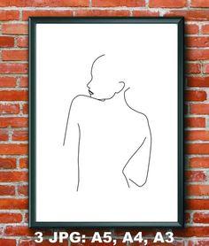 Woman body print Line drawing print Simple art print Digital prints Black and white Woman art print Body Drawing, Line Drawing, Simple Wall Paintings, Dog Paintings, Black And White Art Drawing, Black And White Bodies, Simple Art, Female Bodies, Line Art