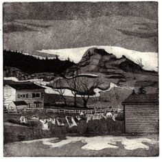 Items similar to Freeze dry, an original hand drawn, hand pulled aquatint etching on Etsy Seascape Art, Newfoundland And Labrador, Freeze Drying, Landscape Art, Art Images, Printmaking, Illustration Art, Illustrations, How To Draw Hands