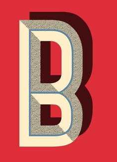 Pawaiian Hunch I Poster shop | Letter B  #Typography #Letterforms #Poster