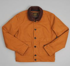 J.S. HOMESTEAD x Hickoee's: The Hill-Side A-1 Jacket, Brown Duck