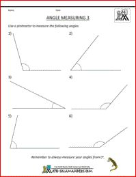 Angle Measuring 3, measuring acute and obtuse angles