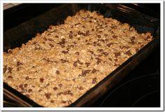 Pb choco-chip granola bars homemade