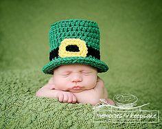 Newborn Leprechaun Top Hat Pattern