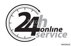 Vektor: Rund um die Uhr Service