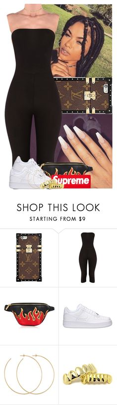 """Untitled #1031"" by msixo ❤ liked on Polyvore featuring Louis Vuitton, NIKE, Allison Bryan and ASOS"