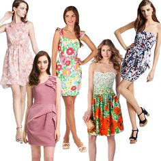 Fun, flirty, floral sundresses that are perfect for garden wedding guests this summer. www.DressSafari.com