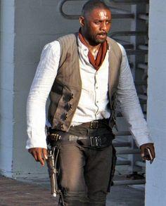 Idris Elba Dark Tower Gunslinger Idris Elba Dark Tower, Roland Deschain, The Dark Tower, The Darkest, Vest, Celebrities, Cotton, Movies, Black