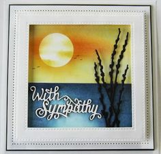 Hi crafters!  Today's video card is a sympathy card, which unfortunately we all need to do from time to time.  They can be very difficult to do sometimes, but I think the serenity of this card makes i
