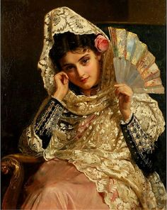 John Bagnold Burgess - Feliciana, a Spanish Beauty (also known as Feliciana, Spanish Gypsy), 1876