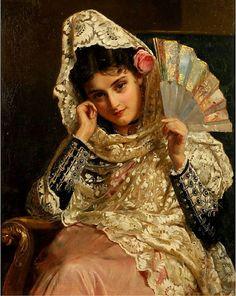 John Bagnold Burgess - Feliciana, a Spanish Beauty (also known as Feliciana, Spanish Gypsy), 1876