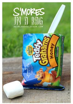 S'mores in a Bag - fun idea from Kimbo for Funner in the Summer!